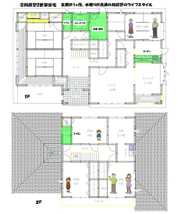 2世帯住宅 間取り図